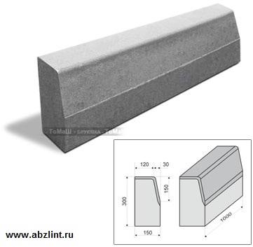 Дорожный бордюрный камень бр железобетонный щелевой пол